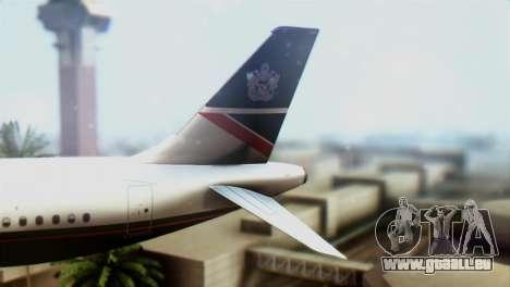 Airbus A320-200 British Airways für GTA San Andreas zurück linke Ansicht