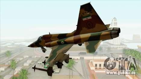 Northrop F-5ES IRIAF pour GTA San Andreas laissé vue