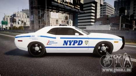 Dodge Challenger NYPD [ELS] für GTA 4 linke Ansicht
