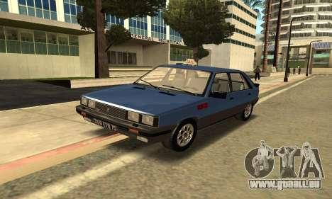 Renault 11 TXE Taxi pour GTA San Andreas laissé vue