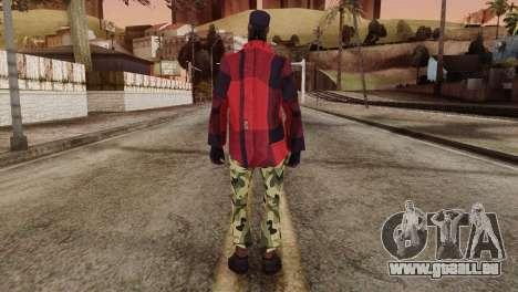 New Homeless Skin für GTA San Andreas zweiten Screenshot