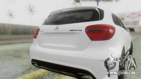 Mercedes-Benz A45 AMG für GTA San Andreas Rückansicht
