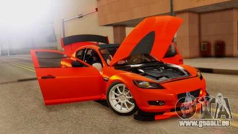 Mazda RX8 Drifter für GTA San Andreas Rückansicht