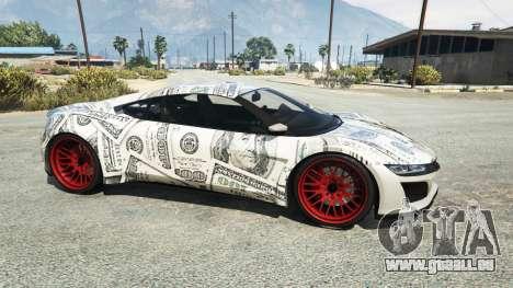 GTA 5 Dinka Jester (Racecar) Dollars vue latérale gauche