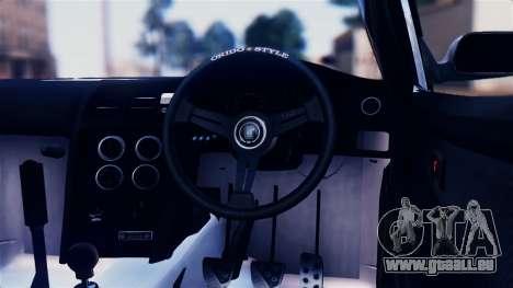 Toyota Mark 2 100 pour GTA San Andreas vue intérieure