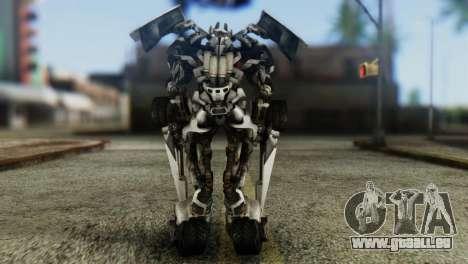 Sideswipe Skin from Transformers v1 pour GTA San Andreas troisième écran