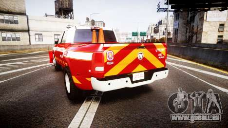 Dodge Ram 3500 2013 Utility [ELS] pour GTA 4 Vue arrière de la gauche