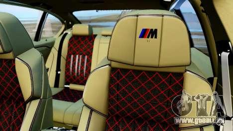 BMW M550d für GTA San Andreas Rückansicht