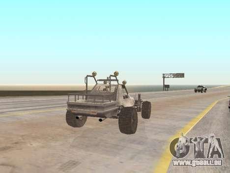 Buggy from Just Cause pour GTA San Andreas sur la vue arrière gauche
