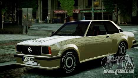 Opel Ascona B pour GTA 4 est un droit