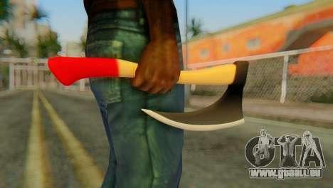 Axe pour GTA San Andreas troisième écran
