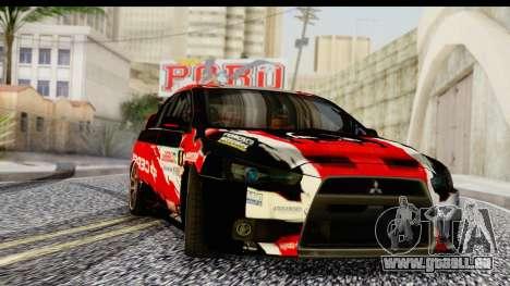 Mitsubishi Lancer Evo X Nunes pour GTA San Andreas