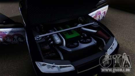 Nissan Silvia S15 K-on Itasha pour GTA San Andreas vue arrière