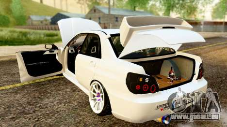 Subaru Impreza WRX STI Stance für GTA San Andreas Innenansicht