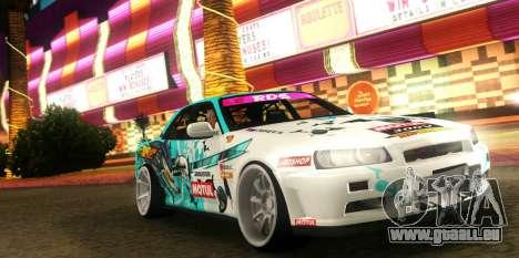Nissan Skyline ER34 GT-SHOP für GTA San Andreas