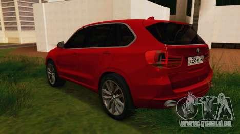 BMW X5 F15 2014 für GTA San Andreas zurück linke Ansicht