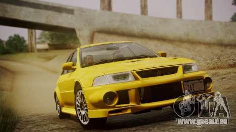 Mitsubishi Lancer Evolution VI 1999 PJ pour GTA San Andreas vue arrière
