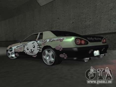 Elegy Paintjobs pour GTA San Andreas vue intérieure