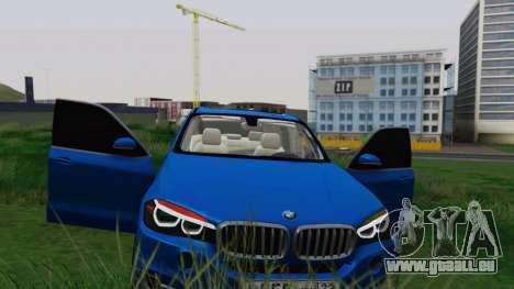 BMW X5 F15 2014 für GTA San Andreas Unteransicht