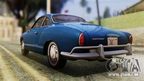 Volkswagen Karmann-Ghia Coupe (Typ 14) 1955 HQLM pour GTA San Andreas laissé vue
