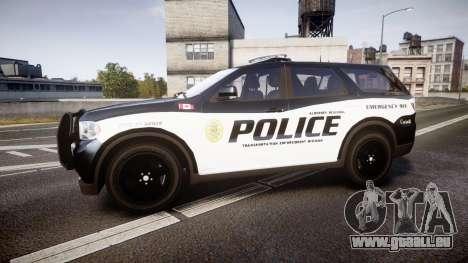 Dodge Durango Alderney Police pour GTA 4 est une gauche