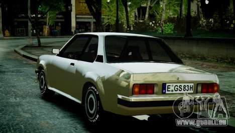 Opel Ascona B pour GTA 4 Vue arrière de la gauche