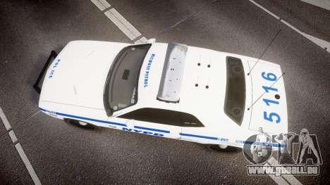 Dodge Challenger NYPD [ELS] für GTA 4 rechte Ansicht