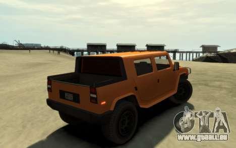 Mammoth Patriot Pickup v2 für GTA 4 linke Ansicht