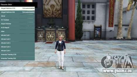 Le menu du personnage pour GTA 5