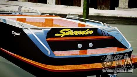 Speeder from GTA 5 pour GTA 4 Vue arrière de la gauche