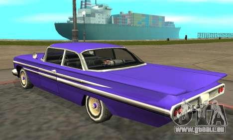 Luni Voodoo Remastered pour GTA San Andreas sur la vue arrière gauche