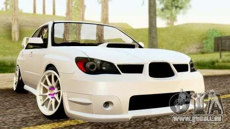 Subaru Impreza WRX STI Stance pour GTA San Andreas vue de droite