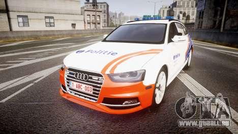 Audi S4 Avant Belgian Police [ELS] orange für GTA 4