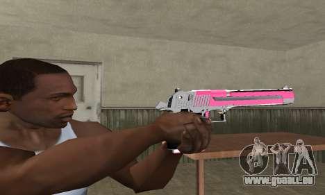 Pink Deagle pour GTA San Andreas deuxième écran