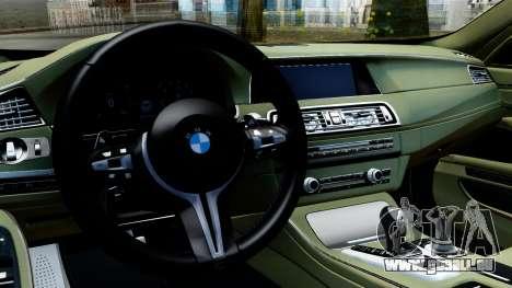 BMW M550d für GTA San Andreas rechten Ansicht