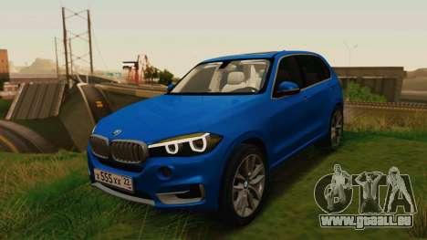 BMW X5 F15 2014 für GTA San Andreas Rückansicht
