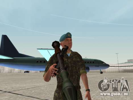 Die Luft Soldaten in der Ukraine für GTA San Andreas her Screenshot