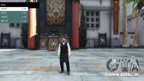 GTA 5 Le menu du personnage troisième capture d'écran
