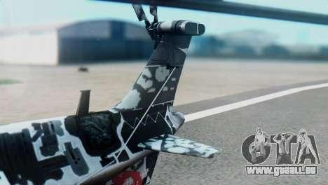 Changhe WZ-10 pour GTA San Andreas sur la vue arrière gauche