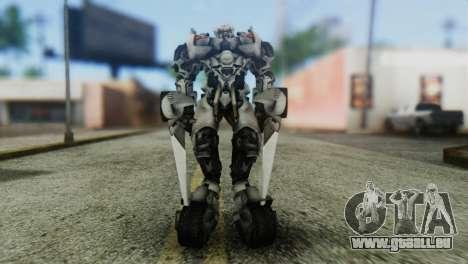 Sideswipe Skin from Transformers v1 pour GTA San Andreas deuxième écran