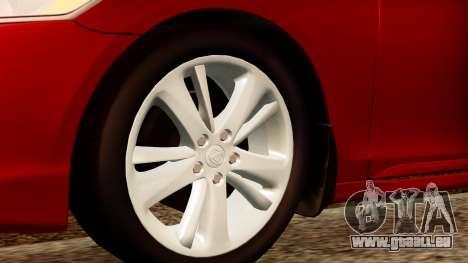 Lexus GS 350 2008 für GTA San Andreas zurück linke Ansicht