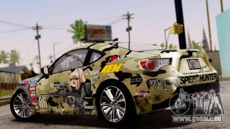 Toyota GT86 (ZN6) 2012 PJ für GTA San Andreas Innenansicht