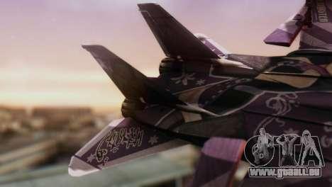 F-14D Azusa Miura The Idolmaster für GTA San Andreas zurück linke Ansicht