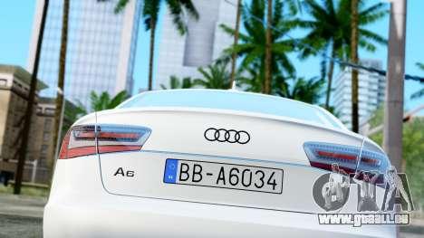 Audi A6 Stanced pour GTA San Andreas vue arrière