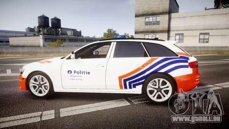 Audi S4 Avant Belgian Police [ELS] orange für GTA 4 linke Ansicht