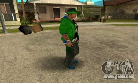 Groove St. Nigga Skin Second für GTA San Andreas her Screenshot