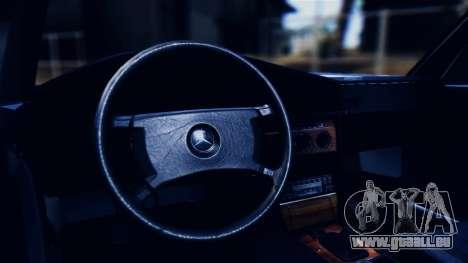 Mercedes-Benz 190E (W201) pour GTA San Andreas vue intérieure
