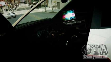 Subaru Impreza WRX STI Police für GTA 4 Rückansicht