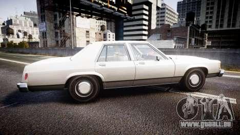 Ford LTD Crown Victoria 1987 Detective [ELS] v2 pour GTA 4 est une gauche