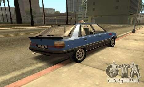 Renault 11 TXE Taxi pour GTA San Andreas sur la vue arrière gauche
